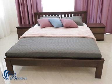 Двуспальная кровать Жасмин с ниским изножьем