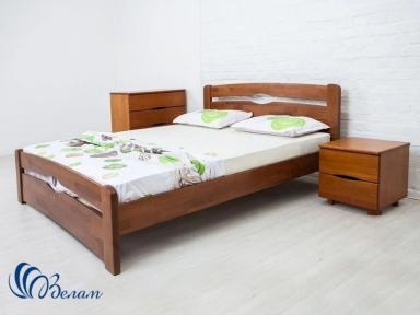 Двоспальне ліжко Нова з узніжжям